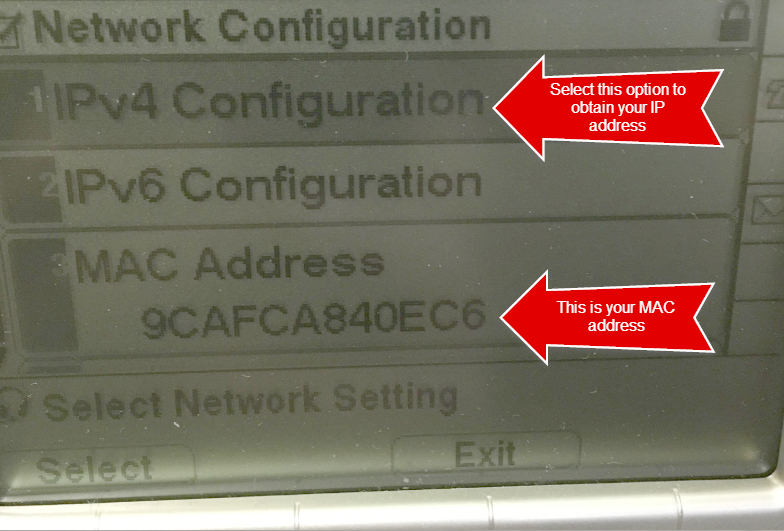 Locating a Cisco Phone MAC Address and IP Address – support